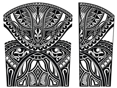 Set of Maori style ornaments. Body tattoo