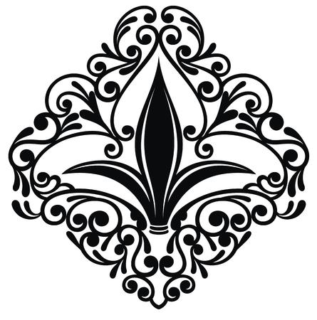 Fleur-de-lis or lily flower icon. Illustration