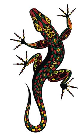 Lizard. Lizard drawing Vectores