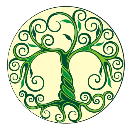 Tree logo illustration. Vector silhouette Illustration