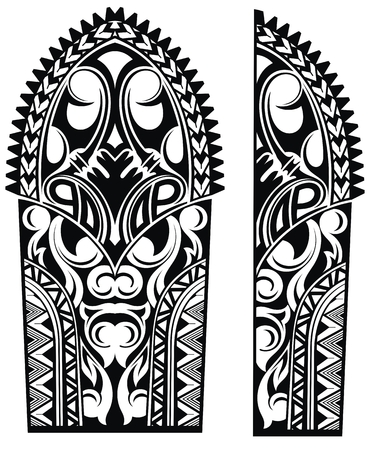 Set of Maori style ornaments Illustration