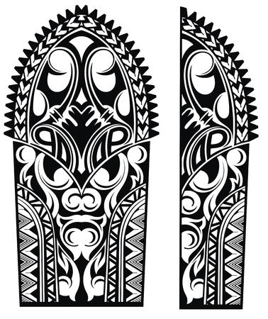 Set of Maori style ornaments Illustration