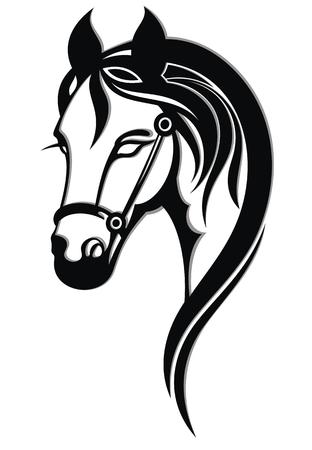 Icona del cavallo, siluetta di vettore Vettoriali