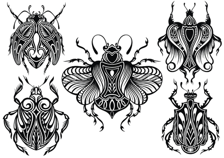 Insects illustration.Bugs collection