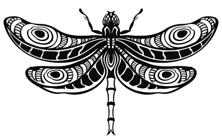 Dragonfly for your design Stock Illustratie