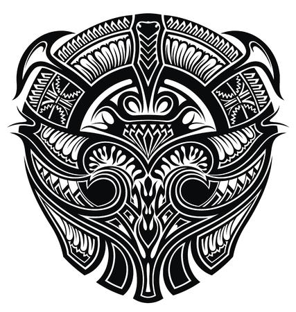 Blackwork tattoo. Black and white tribal tattoo design