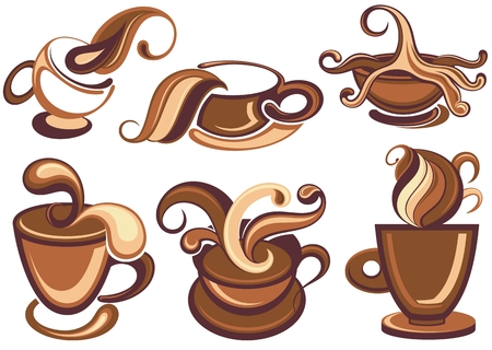 Coffee icons collection Illustration