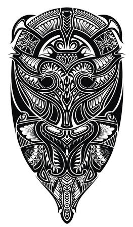 Style tattoo design  イラスト・ベクター素材