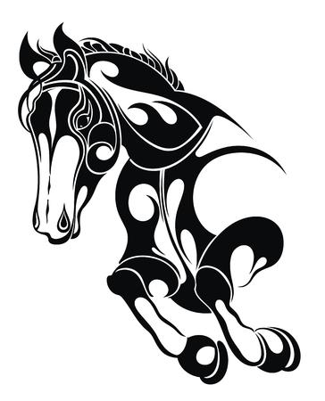 Vector silhouette of a horse Ilustração