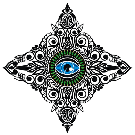 Abstract symbol of All-seeing Eye Stock Illustratie