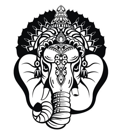 Lord ganesha. Ganesh Chaturthi festival of India Stock Illustratie