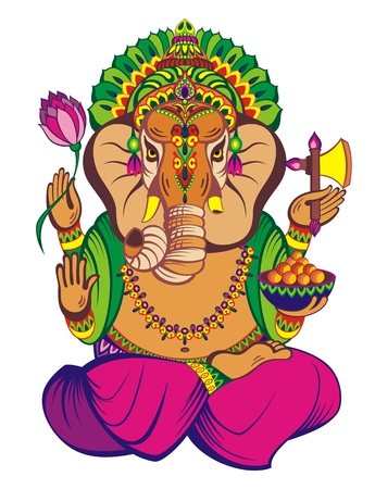 Creative vector illustration of Lord Ganesha Stock Illustratie