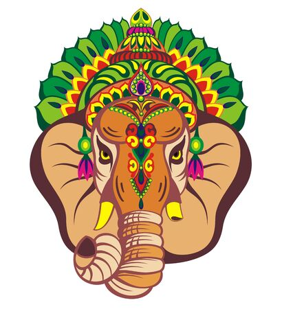 Illustration of Lord ganesha. Design animal Vector Illustration Stock Illustratie