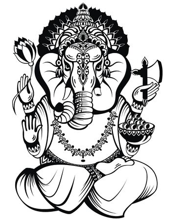 llustration of Lord Ganpati background for Ganesh Chaturthi