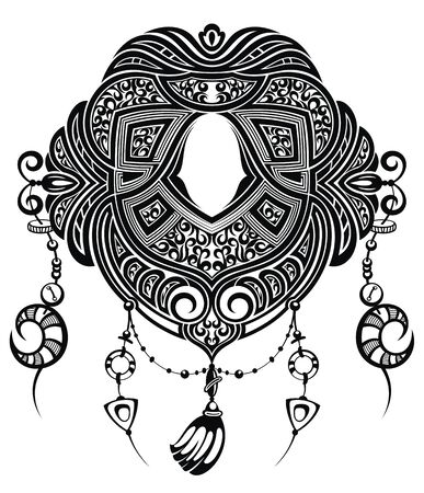 Tattoo design. Tattoo tribal abstract Stock Illustratie