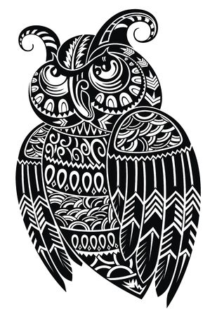 Vector illustration of Owl  . Bird emblem design