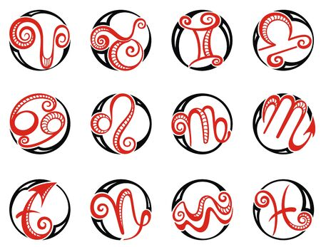 Zodiac Sign Set. Astrology signs