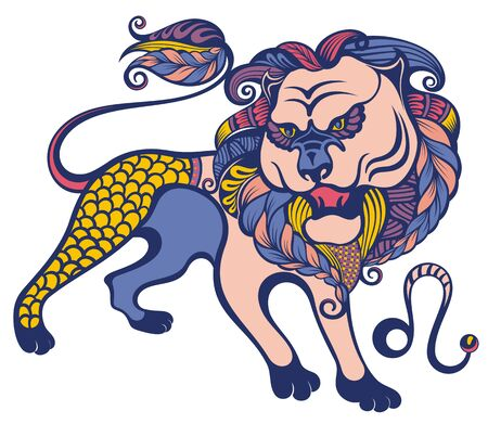 Leo. Zodiac sign. Astrological, horoscope symbol