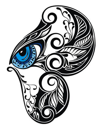 Symbol Eye with butterfly element