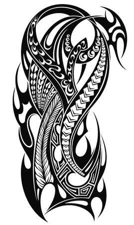 Tattoo design, shoulder abstract tattoo