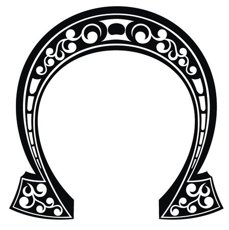 Good Luck Lucky Horseshoe Vector symbol Stock Illustratie