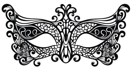 Beautiful mask of lace symbol. Mardi Gras vector background.
