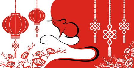 Chinese New Year 2020. The Year of the Mouse or Rat