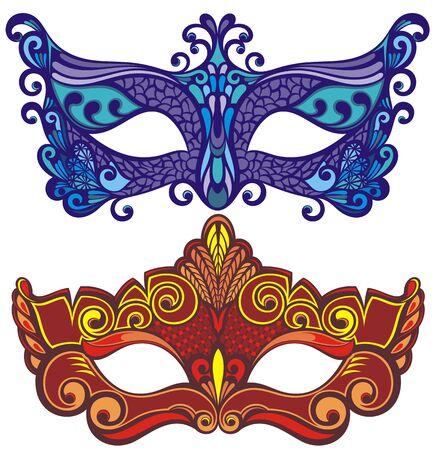 Carnival mask accessory. Mask set Ilustração