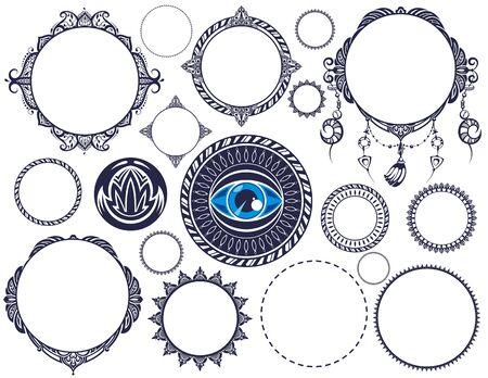 Set of Vintage Labels. Decorative eye