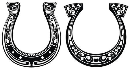 Horseshoe icon. Lucky horseshoe. Saint Patricks Day. Ilustração