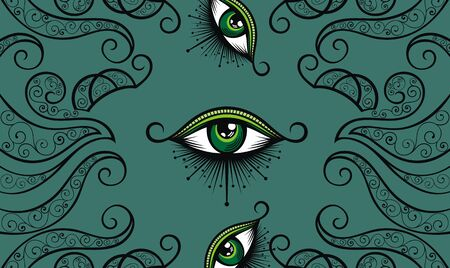 All seeing eye symbol. Vision of Providence