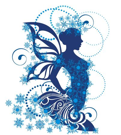 Snow queen. Snow season. Winter lady