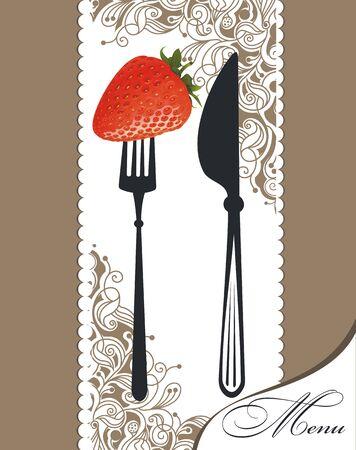 Restaurant menu design. Vector menu template Ilustração