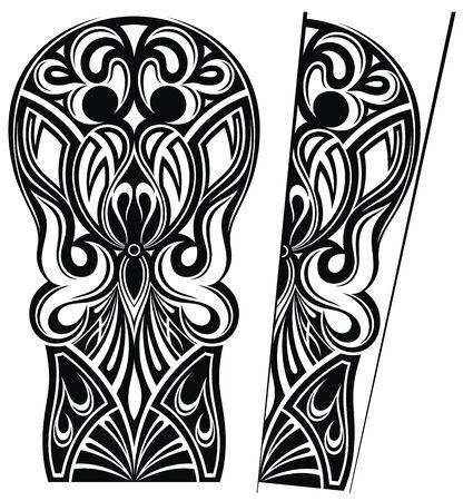 Tattoo design, shoulder abstract tattoo art tribal vector.