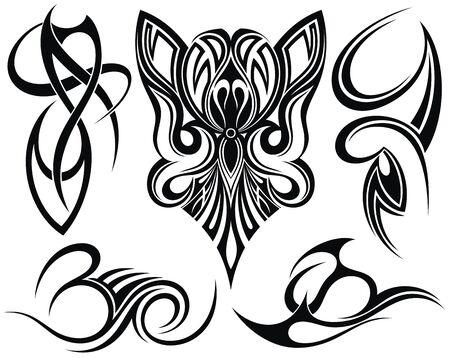 Adornos de estilo. Tatuaje de arte tribal