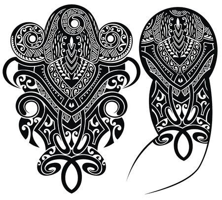 Tattoo-Design, Schulter abstrakte Tattoo-Kunst-Stammes-Vektor.