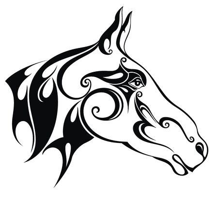 Vector silhouette of a horse's head Stock Vector - 137780226