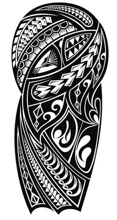 Tattoo-Muster im Tribal-Stil für eine Schulter