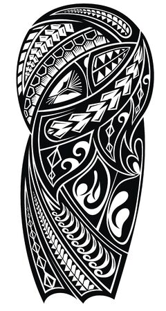 Tribal styled tattoo pattern for a shoulder