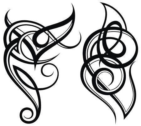 Disegno del tatuaggio, vettore tribale di arte astratta del tatuaggio della spalla.