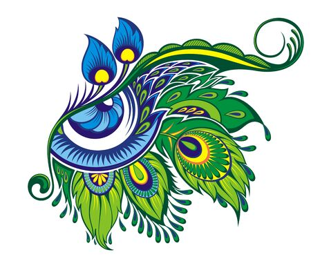 Peacock decorative eye isolated Vector .Exotic eye symbol with feathers
