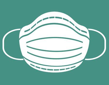 Protective mask concept, Coronavirus 2019 Vetores