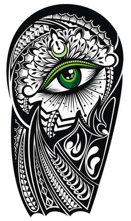 Decorative eye symbol. Vision of Providence.Tattoo design with eye. Body parts