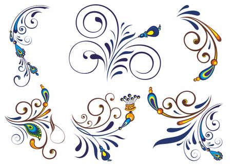 Floral design elements.Set of floral elements for design.