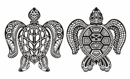 Fish icons. Marine life. Vector illustration. Logo fishes. Logos