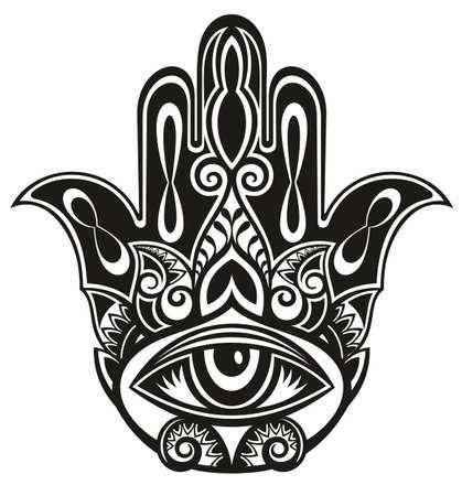 Hamsa, hand of Fatima, vector illustration Vecteurs