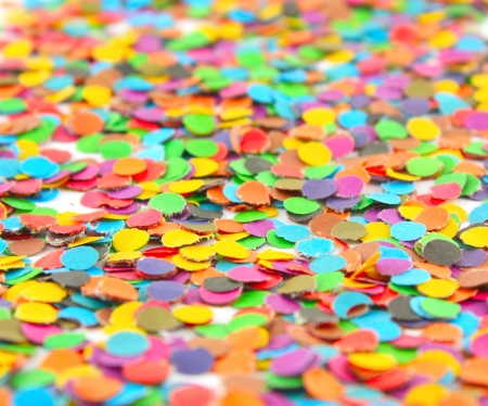 Multi colour circles from paper for decoration. Shallow DOF Stock Photo - 17106652