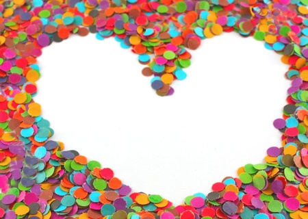 Frame from multi colour circles from paper