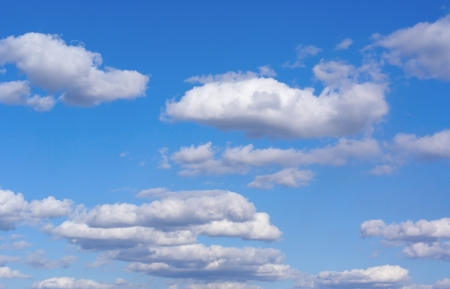Beautiful blue sky with clouds