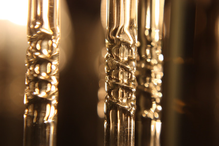 Fragment of chandelier electrical, shallow depth resolution Stock Photo